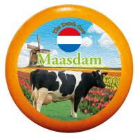 """Сир """"Маасдам"""" 48% ТМ """"Dutch Cow"""" Нідерланди ваг"""