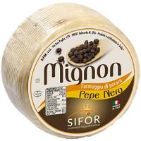 Сир овечий Пекоріно з чорним перцем 47% Sifor, Італія 100г