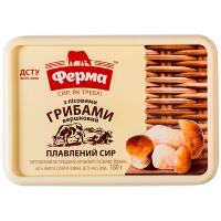 Сир плавлений Ферма Вершковий з лісов.грибами 60% 180г