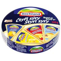 Сир Hochland плавлений 4 сира порційний 140г