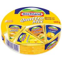 Сир Hochland Асорті Quattro плавлений порційний 140г