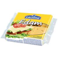 Сир плавлений Lactima Едам нарізаний скибками 130г