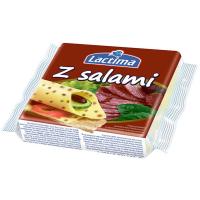 Сир плавлений Lactima Вершковий з салямі скибочки 130г