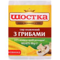 Сир плавлений Шостка з грибами 37% 90г