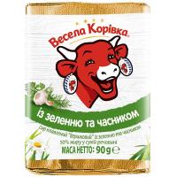 Сир плавлений Весела Корівка із зеленню та часником 90г