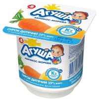 Сирок дитячий Агуша абрикос-морква 3,9% 100г