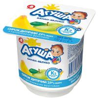 Сирок дитячий Агуша банан-яблуко 3,9% 100г