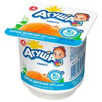 Сирок дитячий Агуша гарбуз 3,9% стаканчик 100г