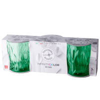 Склянка Bormiolli Rocco 3шт. Wind Green Арт.580518САС021990