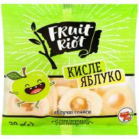 Слайси яблучні Fruit Riot кислі 30г