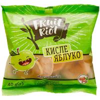 Слайси яблучні Fruit Riot кислі 40г