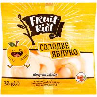 Слайси яблучні Fruit Riot солодкі 30г