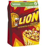 Сніданок Nestle Lion сухий Карамель та шоколад 250г