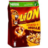 Сніданок Nestle Lion цільні злаки Карамель і шоколад 450г