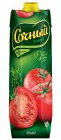 Сік Сочный томатний з м`якоттю з сіллю 1л