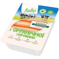 Сосиски Лавр з молоком з органічної сировини вищого сорту 300г