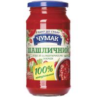 Соус Чумак Шашличний зі шматочками овочів 440г