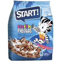 Подушечки Start з молочною начинкою 500г