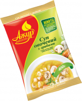 Суміш Ажур Суп овочево-грибна швидкозаморожена 400г х6