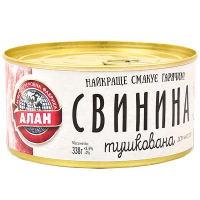 Свинина Алан тушкована ж/б 338г
