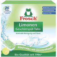 Таблетки для посудомийних машин Frosch Лимон, 26 шт.