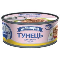 Тунець Аквамарин для салатів в олії ключ 185г