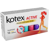 Тампони гігієнічні Kotex Active Normal, 16 шт.