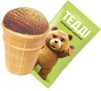 Морозиво Ажур Тедді шоколадне ваф.стак. 55г х45