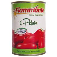 Томати La Fiammante цілі очищені ж/б 400г