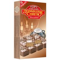 Торт вафельний Домашнє Свято шоколадний 200г
