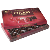 Цукерки Бісквіт Шоколад Вишня заспиртов. в шоколаді 285г
