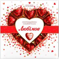 Цукерки Любимов Горіхове праліне в мол.шоколаді 125г