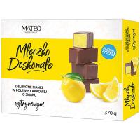 Цукерки Mateo молочко лимонне в какао глазурі 370г