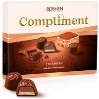 Цукерки Roshen Comliment зі смаком тірамісу 120г