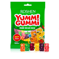 Цукерки Roshen Yummi Gummi mini bear mix 100г