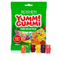 Цукерки Roshen Yummi Gummi mini bear mix 100г