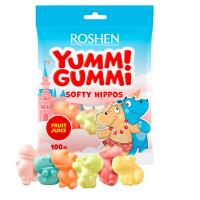 Цукерки Roshen Yummi Gummi Softy Hippos 100г