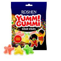 Цукерки Roshen Yummi Gummi Sour Stars пак. 100г