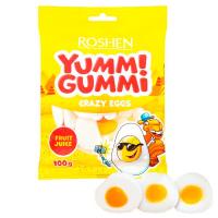 Цукерки Roshen Yumm!Gummi Crazy Eggs 100г
