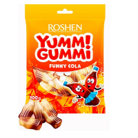 Цукерки Roshen жeлейні Yummi Gummi Funny Cola 100г
