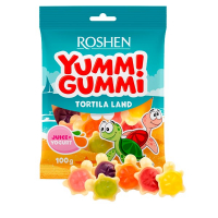 Цукерки Roshen жeлейні Yummi Gummi Tortila Land 100г