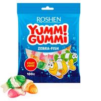 Цукерки Roshen жeлейні Yummi Gummi Zebra-Fish 100г