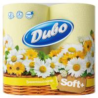 Туалетний папір Диво Soft+ Жовтий, 4 шт.