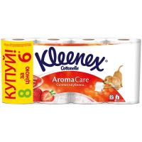 Туалетний папір Kleenex Cottonelle Aroma Care Соковита Полуниця, 8 шт.