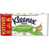 Туалетний папір Kleenex Cottonelle Aroma Care Ніжна Ромашка, 8 шт.