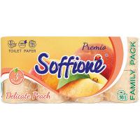 Туалетний папір Soffione Premio Delicate Peach Персиковий, 16 шт.