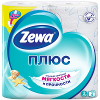 Туалетний папір Zeva Плюс блакитна 4шт