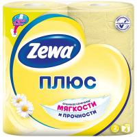 Туалетний папір Zeva Плюс жовта 4шт