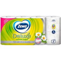 Папір туалетний Zewa Deluxe Ромашка білий 3ш. 8р.