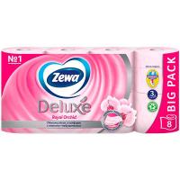 Туалетний папір Zewa Delux Orchid ароматизована 8шт.